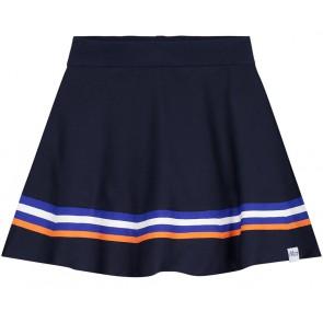 NIK en NIK Joshy Indie skirt rok met blauw/oranje/wit streep in de kleur donkerblauw