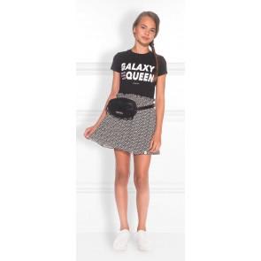 NIK en NIK Galaxy t-shirt met tekst in de kleur zwart
