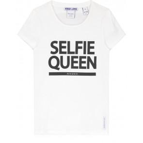 NIK en NIK Selfie t-shirt met zwarte tekst in de kleur wit