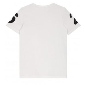 NIK en NIK Henk t-shirt met strepen en cijfers in de kleur wit