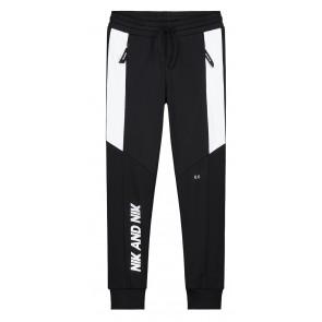 NIK en NIK sweatpants broek met witte strepen en logo in de kleur zwart