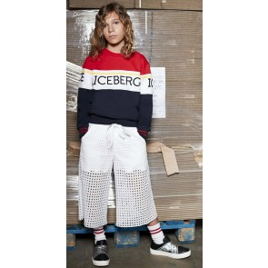 Iceberg kids boys sweater trui met logo in de kleur multicolor