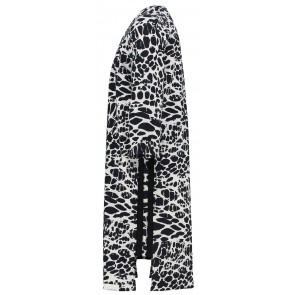 Penn & Ink kids jurk van travel quality met dierenprint in de kleuren zwart/wit