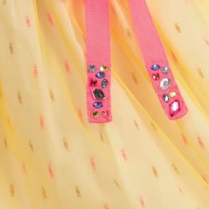 Billieblush rok met tule en diamant riempje in de kleur zacht geel