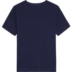 Calvin Klein kids jeans boys logo shirt in de kleur donkerblauw
