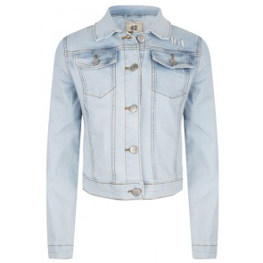 Indian blue jeans denim jacket spijkerjasje in lichte wassing