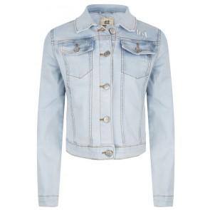 Indian blue jeans denim jacket spijkerjasje in lichte wassing