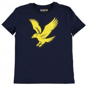 Lyle and Scott shirt met grote logo vogel in de kleur donkerblauw