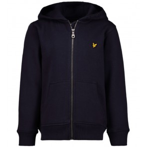 Lyle and Scott zipper sweatvest in de kleur donkerblauw