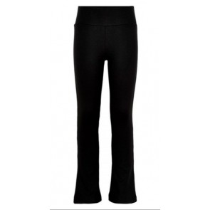 The New kinderkleding yoga flared pants in de kleur zwart