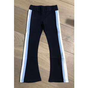 The New kinderkleding yoga flared pants met bies in de kleur donkerblauw