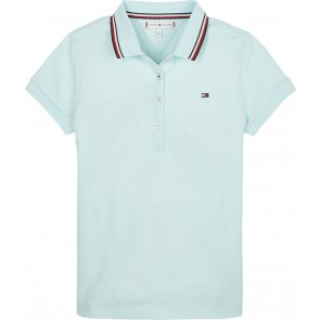Tommy Hilfiger kids girls essential polo shirt in de kleur lichtblauw