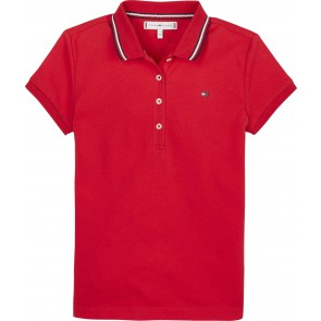 Tommy Hilfiger kids girls essential polo shirt in de kleur rood