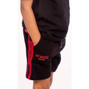 My brand korte broek sweatshort in de kleur rood/zwart