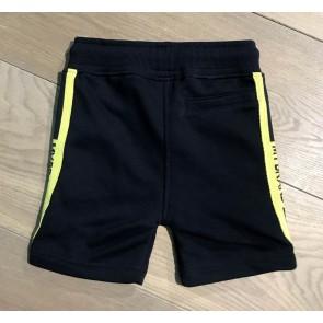 My brand korte broek sweatshort in de kleur geel/donkerblauw