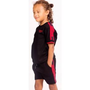My brand polo shirt met rode bies in de kleur zwart