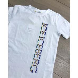 Iceberg kids boys t-shirt met logoprint in de kleur wit