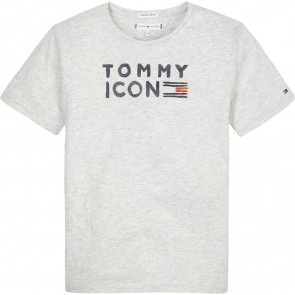 Tommy Hilfiger kids girls tommy flag shirt in de kleur lichtgrijs