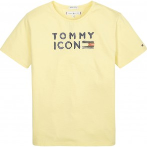 Tommy Hilfiger kids girls tommy flag shirt in de kleur zachtgeel