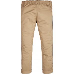Tommy Hilfiger kids boys tape chino broek in de kleur zand