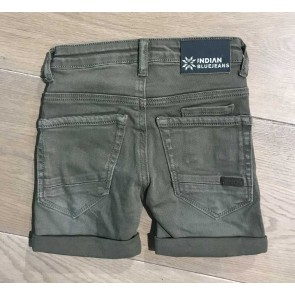 Indian blue jeans korte broek max short in de kleur army green groen
