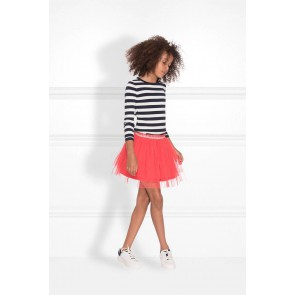 Nik en Nik striped Jolie top in de kleur black zwart
