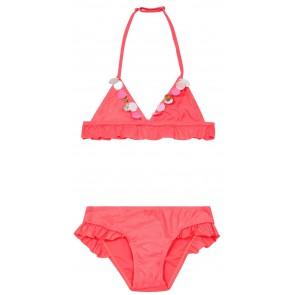 Billieblush bikini met glitters en pailletten in de kleur fluor roze