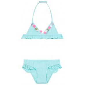 Billieblush bikini met pailletten en glitters in de kleur turquoise blauw