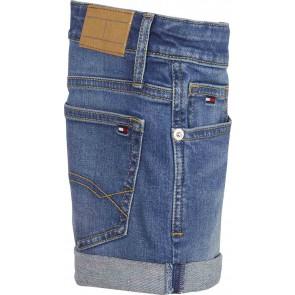 Tommy Hilfiger Nora denim korte broek in de kleur jeansblauw
