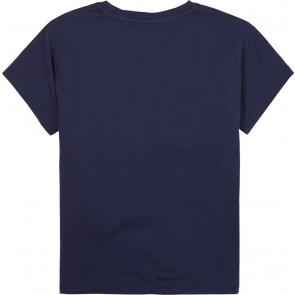 Tommy Hilfiger oversized t-shirt met logoprint in de kleur donkerblauw
