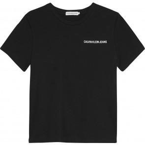 Calvin Klein Jeans logo t-shirt in de kleur zwart