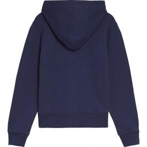Calvin Klein Jeans hoodie trui met logoprint in de kleur donkerblauw