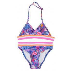 Le Big bikini tropical print in de kleur blauw/roze