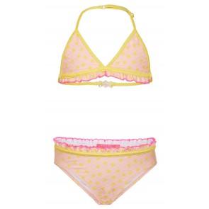 Le Big bikini met zonnetjesprint in de kleur lichtroze