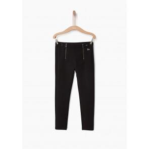 IKKS girls skinny broek met pailletten in de kleur zwart