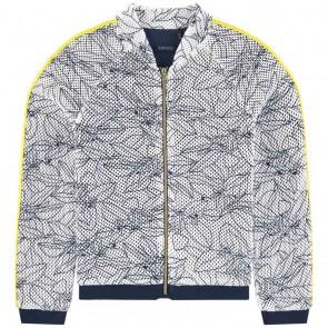 IKKS girls vestje met print in de kleur donkerblauw/wit