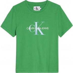 Calvin Klein Jeans t-shirt met logo in de kleur groen