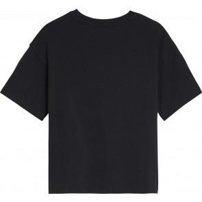 Calvin Klein Jeans cropped sweatshirt met logo in de kleur zwart