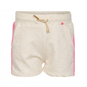 Le Big sweat short met spikkels en gekleurde bies in de kleur multicolor