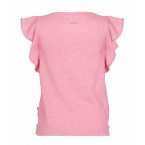 Le Big shirt met roezels en oogjes in de kleur zachtroze