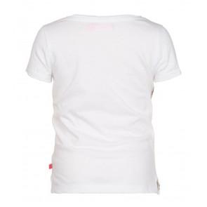 Le Big shirt met all over print in de kleur wit