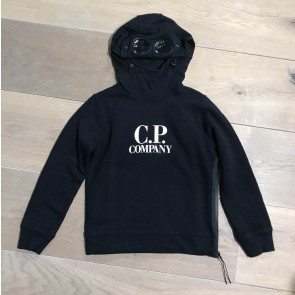 CP company under sixteen kids hooded sweater trui met bril in de kleur zwart