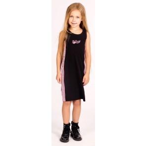 My Brand sportieve jurk met bies in de kleur zwart