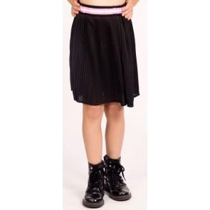 My Brand pliseé mesh rok met sportieve band in de kleur zwart