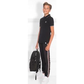 NIK en NIK Marvin Track Pants sweatpants met logobies in de kleur zwart