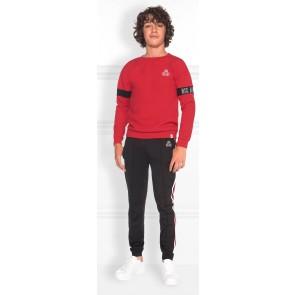 NIK en NIK Malik sweater trui met logoband in de kleur rood
