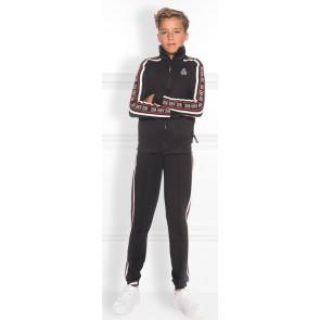 NIK en NIK Marvin Track jacket met logobies in de kleur zwart
