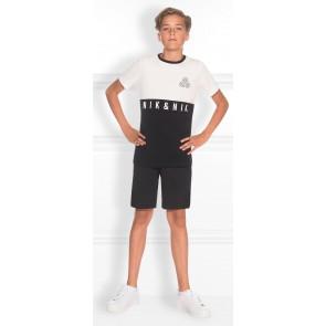 NIK en NIK Joshua t-shirt met logo in de kleuren wit - zwart