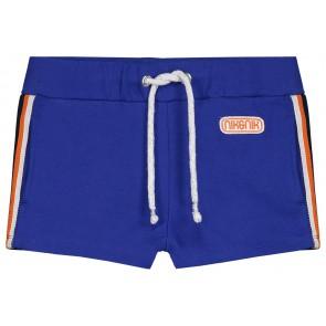 NIK en NIK Feline short korte broek met bies in de kleur kobalt blauw