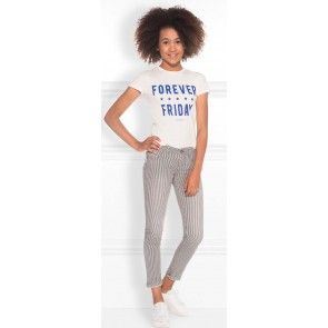 NIK en NIK Forever t-shirt met kobalt blauwe tekst in de kleur wit